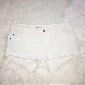Brandy Melville Cut Off Jean Shorts White Sz. 44